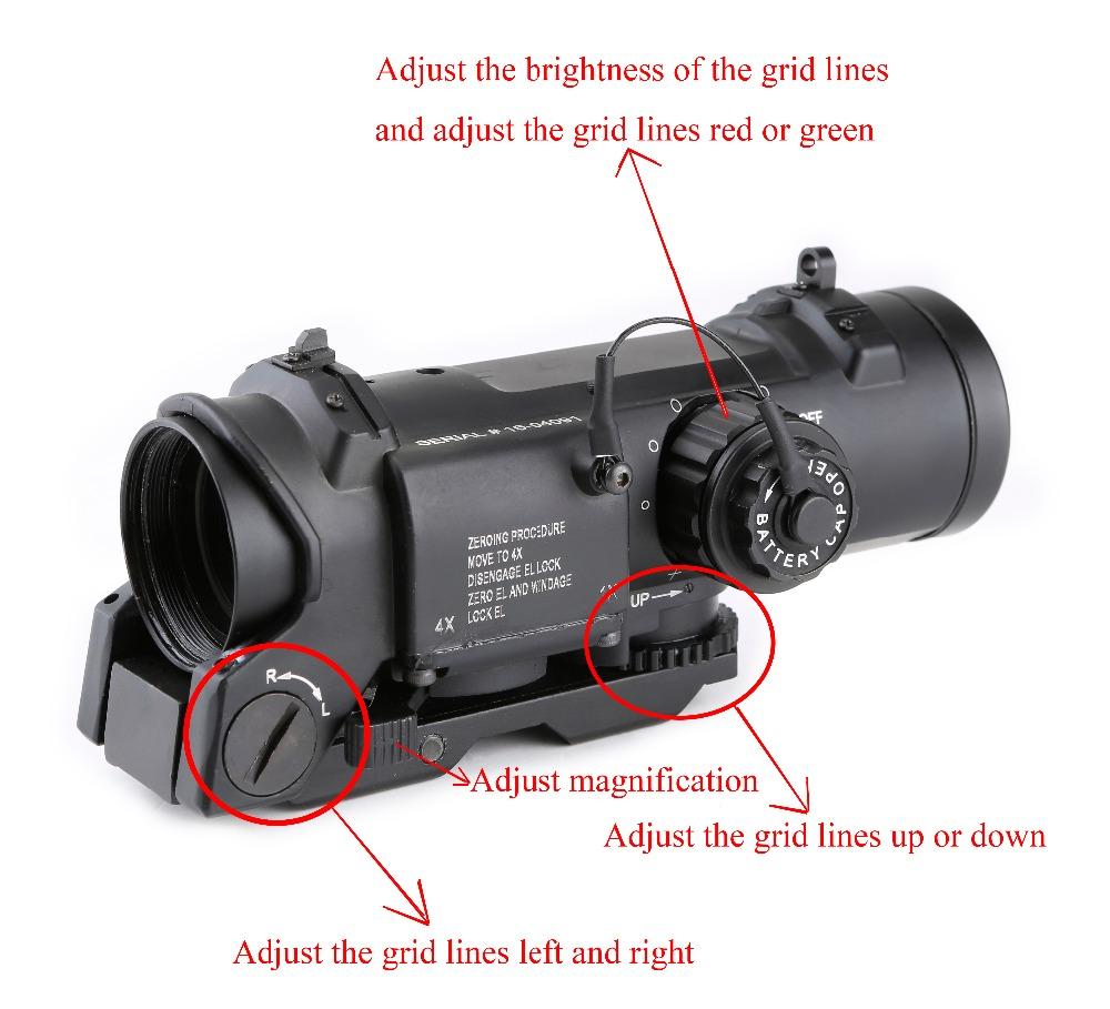 SPINA Riflescope Tactical Scope 4