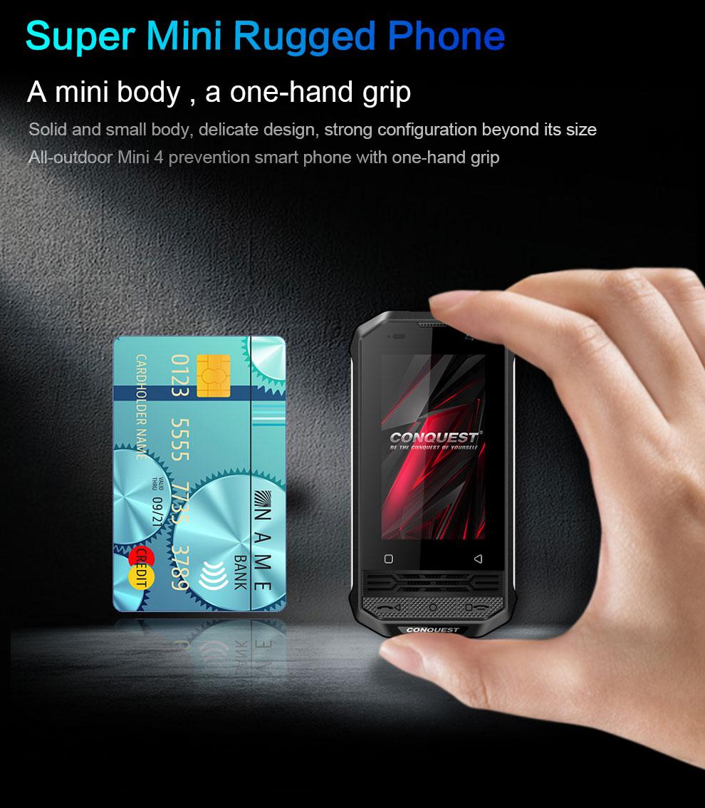 Conquest F2 mini rugged phone for sale