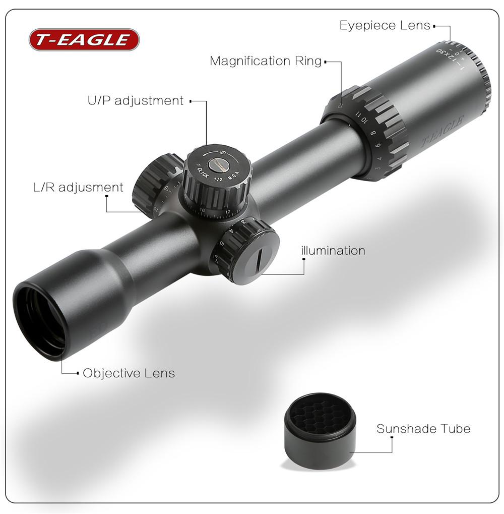 T-Eagle ED 1-12x30 IR Riflescope-2